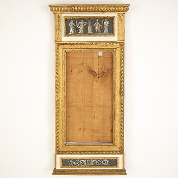 A Gustavian mirror frame, late 18th Century.