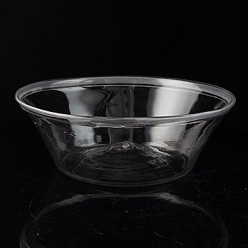 A Swedish glass bowl early 19th century.