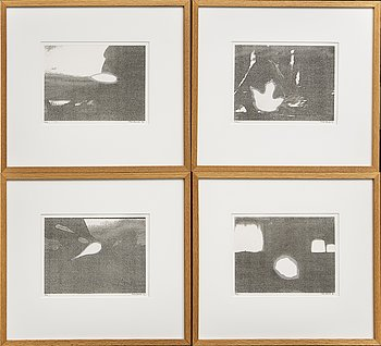 Max Mikael Book, 4 signed, dated, and numbered etchings.