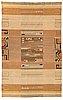 Impi sotavalta, attributed, a 1930s finnish flat weave carpet for kodiksamin mattokutomo.  circa 295x190 cm.