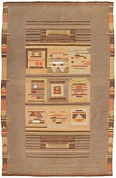 A 1930s Finnish flat weave carpet. Circa 300x190 cm.