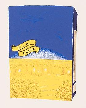 Jani Leinonen, litografia, signeerattu ja päivätty 2007, numeroitu 21/90.