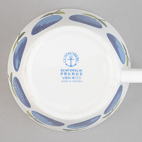 Stig lindberg, a 23-piece 'prunus' porcelain service, gustavsberg.
