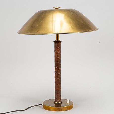 A brass table lamp from nordiska kompaniet, 1940's.