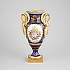 An empire style porcelain urn decorated by atelier le tallec, france, mid 20th century.