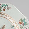 A pair of chinese porcelain famille rose plates, qing dynasty, qianlong (1736-1795).