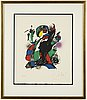 Joan miró, lithograph in colors,  signed and numbured lx/lxxx.