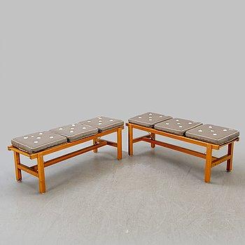 Elsa Stackelberg, benches / garden benches, a pair, Fri Form, 2000s.