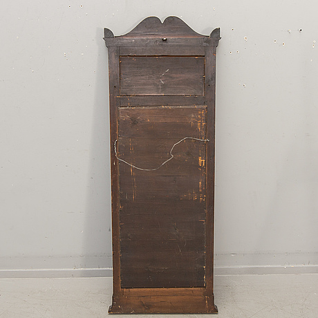 A late empire mahogany mirror and table mid 1800s.