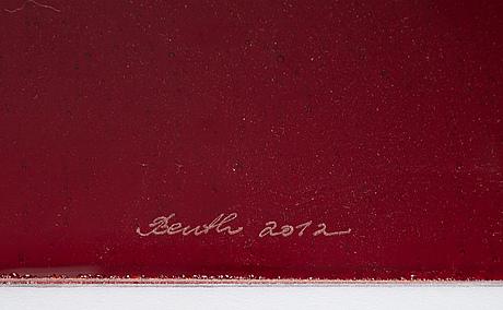 Benth owesen, plaketter, 23 st, glas, norge, signerade och daterade.