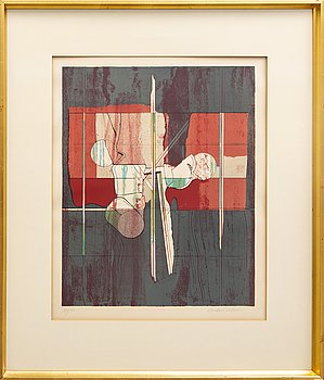 Anders Österlin, lithograph, signed, numbered.