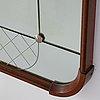 A mirror, glas och trä, hovmantorp, 1950's/1960's.