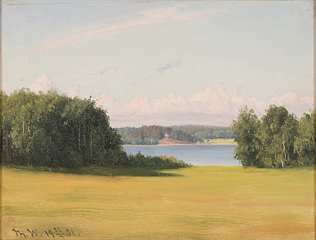 Thorsten waenerberg, oil on canvas, signed and dated 1901.