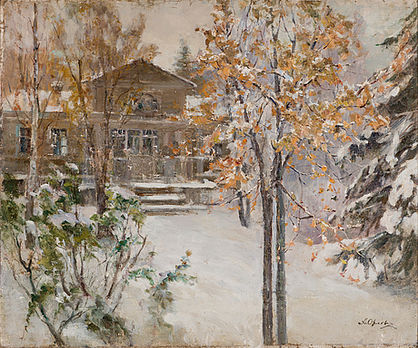 Alexandr grigoriev orlov, oil on canvas, signed.