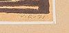 Viljo ranta, träsnitt, 4+1 st, signerade och daterade 1956-71.