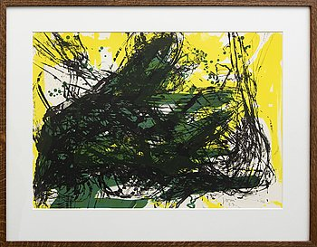 Asger Jorn, color lithograph, signed, numbered, dated -63 28/50.