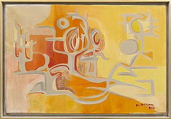 Siri Rathsman, oil on canvas, signed, dated 1956.