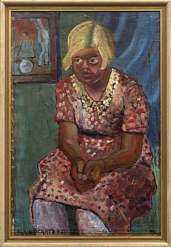 Maja Braathen, oil on canvas, signed.