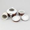 Ulla procopé, a 14-piece porcelain tea service, arabia, finland.