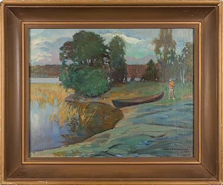 Väinö hämäläinen, oil on canvas, signed and dated 1927.