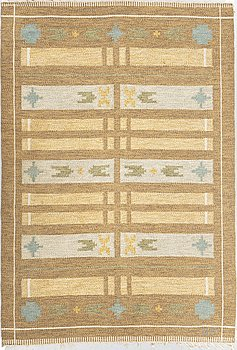 Ulla Parkdal, matto, flat weave, ca 200 x 134,5-136 cm, signed UP.