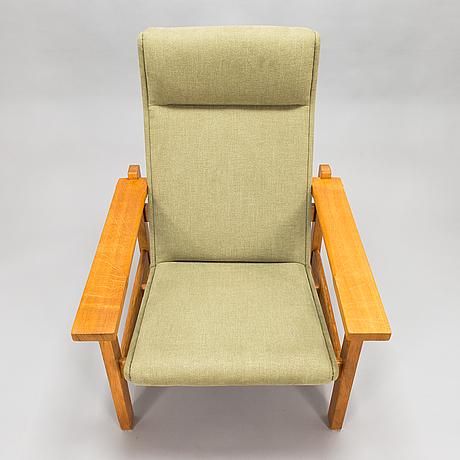 Hans j wegner, a mid- 20th century 'ge-163a', armchair for  getama, gedsted, denmark.