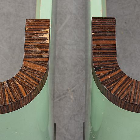 David blomberg, a pair of macassar veneered beds, ab svenska möbelfabrikerna bodafors, 1930's.