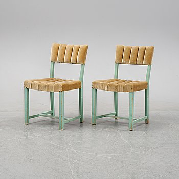 David Blomberg, a pair of chairs, AB Svenska Möbelfabrikerna Bodafors, 1930's.