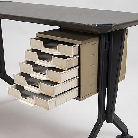 A 1960s olivetti writing desk, 'arco', studio bbpr, italy.