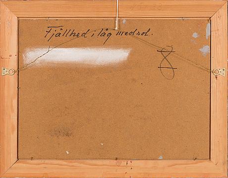 Lindorm liljefors, olja på pannå, signerad och daterad -74.