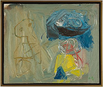 Juan Carlos Quintana, oil on canvas, signed and dated -87.