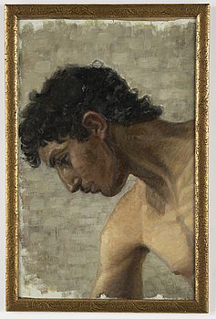Unknown artist 20th Century, unsigned. Oil on canvas 37 x 58 cm.