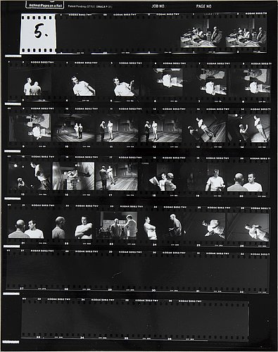 Photograph, contact sheet 2 pcs, marie nilsson and unknown photographer.