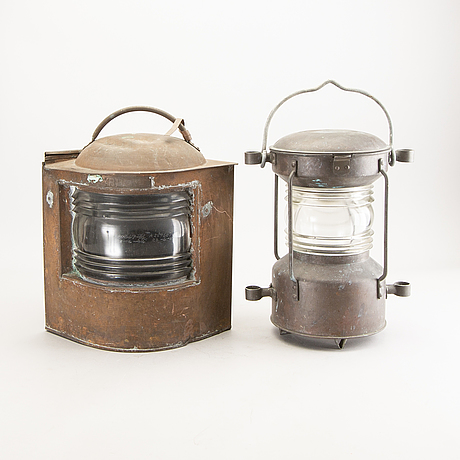 Lantern / ship lantern, 2 pcs, sweden, 20th century.
