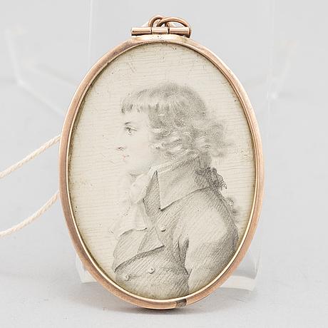 Miniature, attributed to john downman,