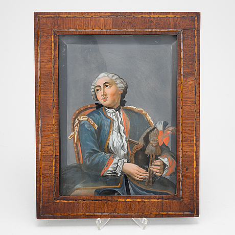 A early 19th century painting on glas.