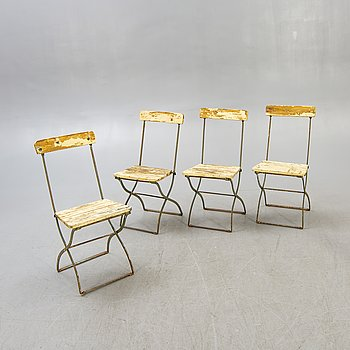 """Garden chairs, 4 pcs, 20th century, """"Brewery chairs""""."""