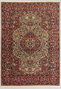Matta, Isfahan antik ca 204x144 cm.