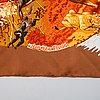 Hermès, an 'africa' silk scarf.
