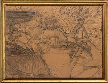 B Clement, drawing, early 20th century.