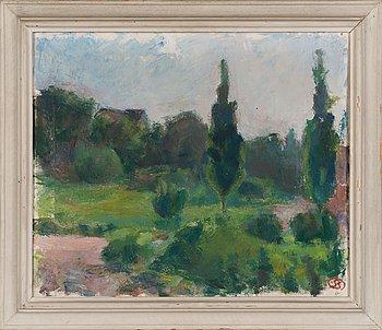 Sigrid Schauman, oil on canvas, signed.