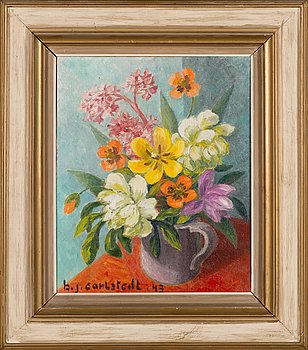 Birger Carlstedt, oil on canvas, signed and dated-43.