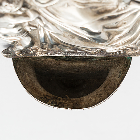 An early 19th century silver venetian holy water bowl.
