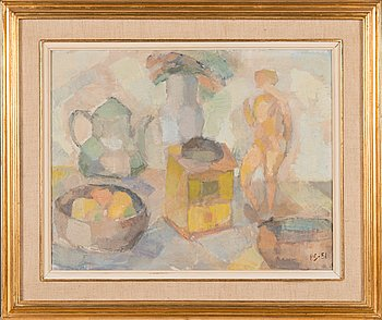Per Stenius, oil on panel, signed and dated-51.