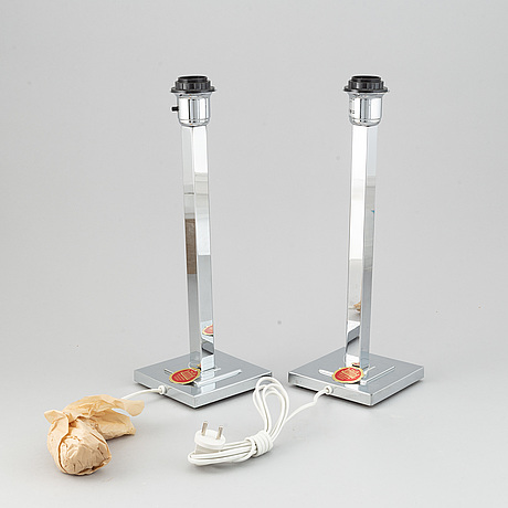 A pair of 1960's table lights from ewå.