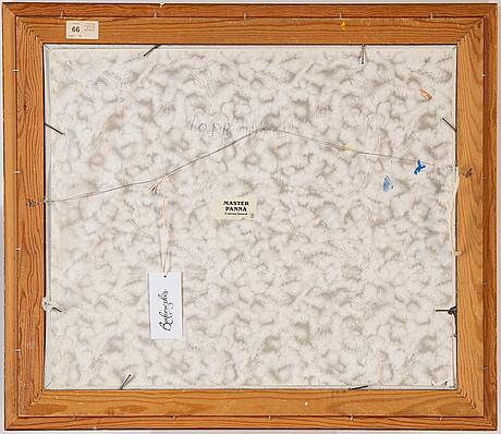 Birger birger-ericson, oil on canvas/paper-panel, signed.