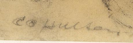 Co hultén, co hultén, frottage, signed, dated -42.