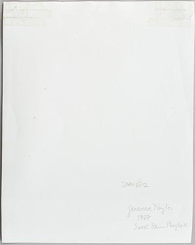 Geneviève naylor, photograph signed on verso.