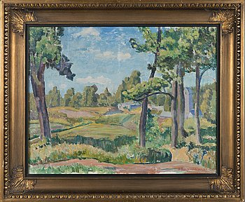 Sam Vanni, oil on canvas, signed S. Besprosvanni and dated -35.