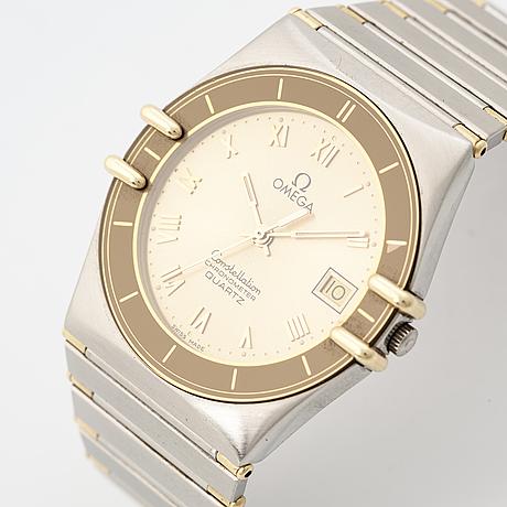 "Omega, constellation, chronometer, ""manhattan"", wristwatch, 32,5 mm."